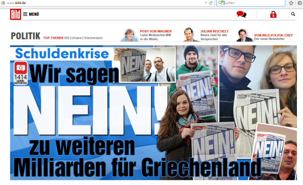 Screenshot. bild.de